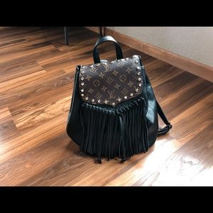 Upcycle tassel backpack